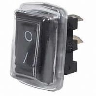 DURITE <BR>Black On/Off Rocker Switch with cover - 10A at 12V<BR>ALT/0-530-51